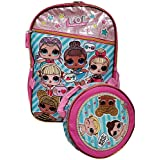 "L.O.L GOO GOO 16"" Large Backpack With Ball Lunch Bag - Detachable Lunch bag"
