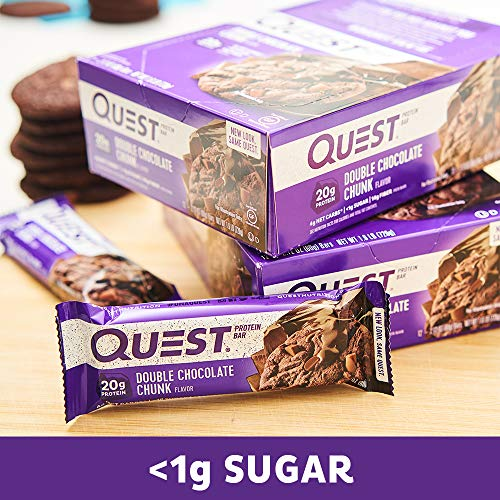 Quest Nutrition Double Choc Chunk Bar 60 g (order 12 for retail outer): Amazon.es: Salud y cuidado personal