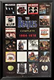 buyartforless IF RM 383 36x24 1.25 Black Framed The Beatles The Complete Albums (1964-1970) 36X24 Music Art Print Poster