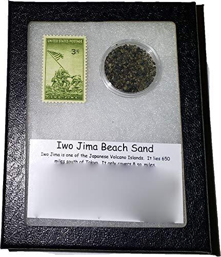 (StarStuff.Rocks Iwo Jima Beach Sand and Postage Stamp - Commemorative Collection)