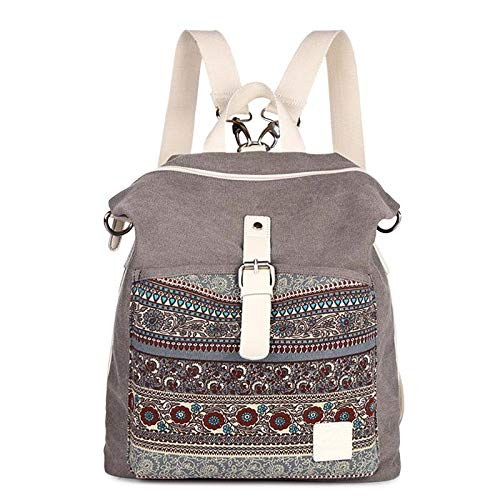 Bookbag Femme Double Quotidiennes Gray Femmes Usage Bandoulière Sacs Sac Voyage VHVCX Dos Mode À À Étudiant Toile Dos À Épaule Sac OBYXcxq