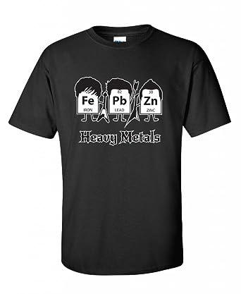 Amazon heavy metals periodic table science graphic band music heavy metals periodic table science graphic band music cool very funny t shirt s black urtaz Image collections