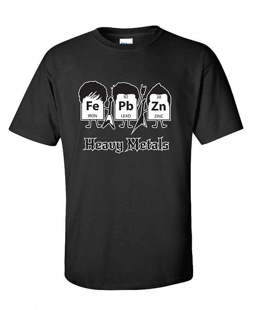 Amazon heavy metals periodic table science graphic band music heavy metals periodic table science graphic band music cool very funny t shirt s black urtaz Images