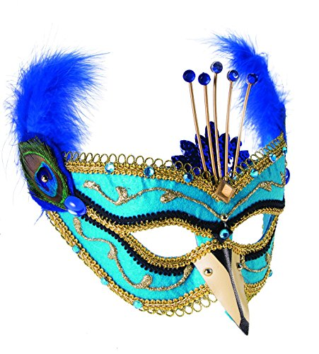 Forum Novelties 74731 Supplies Deluxe Peacock Party Mask -