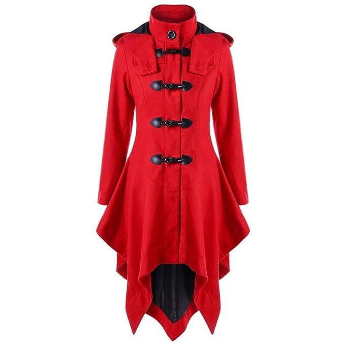 Abrigos Mujer Vintage Fashion Gótica Largos Gabardina Mode De Marca Elegantes Espesor Stand Cuello Manga Larga Slim Fit Termica Parkas Outwear Chaqueta ...