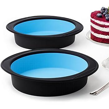 Amazon Com 9 Quot Round Silicone Cake Mold Pan 9 Quot Round X 2