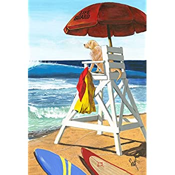 Attractive Toland Home Garden Puppy Patrol Decorative Beach Dog Lifeguard Summer Garden  Flag