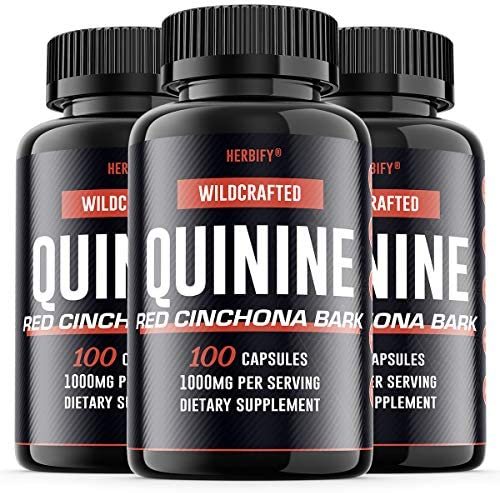 Quinine Pills 1000mg, Red Cinchona Bark Cinchona succirubra Peruvian Bark Cinchona officinalis Powerful Combination, Wild Harvested Herbal Supplement, 100 Capsules 300
