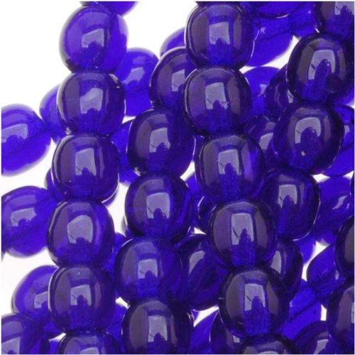 Czech Glass Druk Round 4mm Cobalt Druks (100 Beads) ()