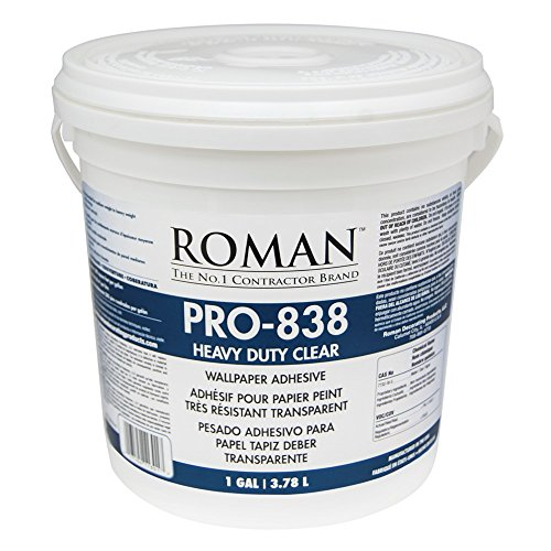 - Roman 011301 PRO-838 1 gal Heavy Duty Wallpaper Adhesive, Clear