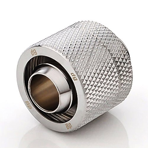 Bits Power G 1/4 in. Thread inside diameter 3/8 inch outer diameter for 5/8 inch tube CC 3 V 3 compression fitting shining silver (BP-CPF-CC3V3)