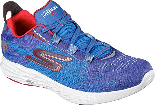 Skechers Women's Go Run 5 Houston 2017 Running Shoes Blue/Red 9.5 B(M) US