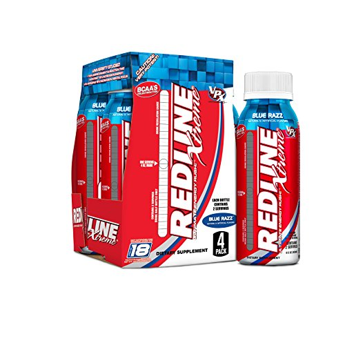 (VPX Redline RTD Xtreme, Blue Razz, 8 Oz. Each (Pack of 4))