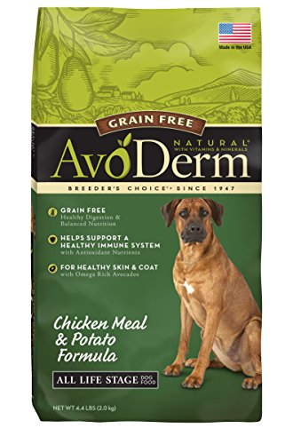 Avoderm Grain Free Adult Dry Dog Food, Chicken Meal & Potato Recipe, 4.4-Pounds