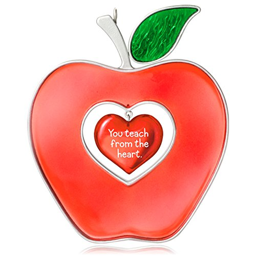 Hallmark Keepsake Ornament: Best Teacher Apple Heart