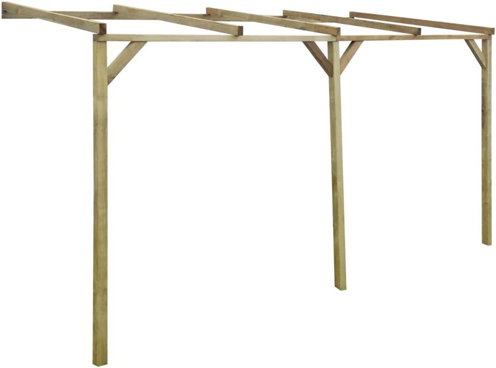 Festnight Pérgola de Madera para Pared 2 x 4 x 2, 2 m: Amazon.es ...