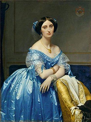 Paul Hobbs Napa - Oil Painting 'Jean-Auguste-Dominique Ingres-Portrait Of The Princess Albert De Broglie,1853' 8 x 11 inch / 20 x 27 cm , on High Definition HD canvas prints, Basement, Bath Room And Bed Room Decoration