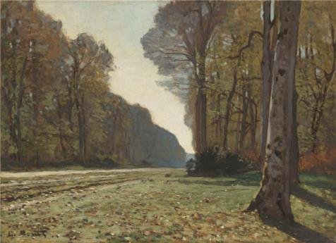 The High Quality Polyster Canvas Of Oil Painting 'Le Pave De Chailly, 1865 By Claude Monet' ,size: 20x28 Inch / 51x70 Cm ,this High Definition Art Decorative Canvas Prints Is Fit For Laundry Room Artwork And Home Gallery Art And Gifts - Pave Scroll