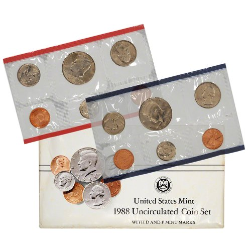 1988 United States Mint Uncirculated Coin Set (U88) in Original Government - Mint 1988