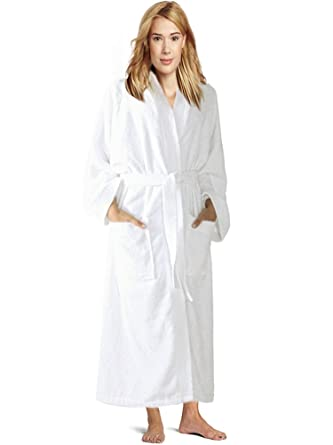 5ed62620d9e08 Towel Terry Kimono Robe, Women's & Men's Terry Kimono Bathrobe, Cotton  Cover Up (L, Pure White) at Amazon Women's Clothing store: Bath Robe