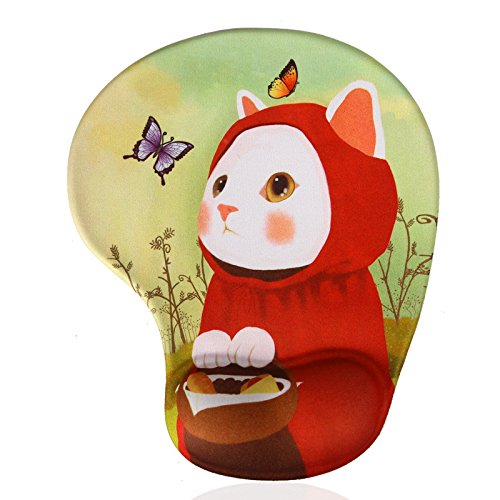 Famixyal-High-Quality-Creative-Wrist-protected-Mouse-pad-Wristbands-Personalized-Computer-Desk-Decoration-Cute-Cartoon-Mouse-Pad-Mat-Fashion-Comfort-Silicone-Lycra-Mouse-Pad-Ergonomic-Support-Gel-Wris