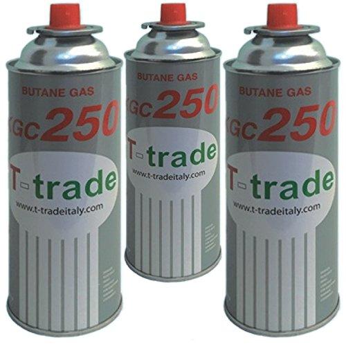 Bombolette Gas Butano Multipack 3 pezzi 250 Grammi Fornelli Campeggio Casa TRADE
