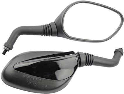 8mm Red Side Mirrors for GY6 50cc 125cc 150cc 250cc Chinese Scooter Moped Motorcycle Rear View Mirror