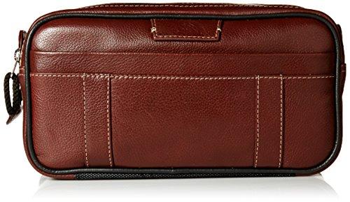 Dopp Men's Country Saddle Soft Sided Multi-Zip Travel Kit-Leather