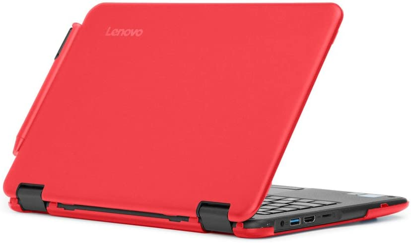 """mCover Hard Shell Case for 2017 11.6"""" Lenovo N24/300E Series Windows Laptop (NOT Fitting Lenovo N21/N22/N23 Series Chromebook Laptop) (Red)"""