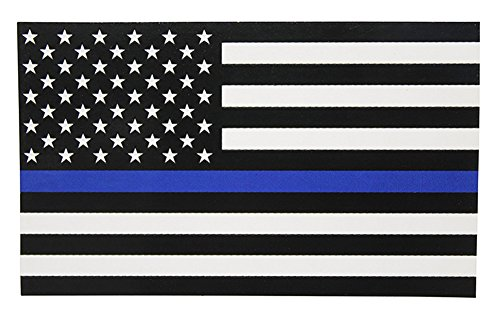 RoseSummer 1pc Police Officer Thin Blue Line American Flag Decal Stickers -