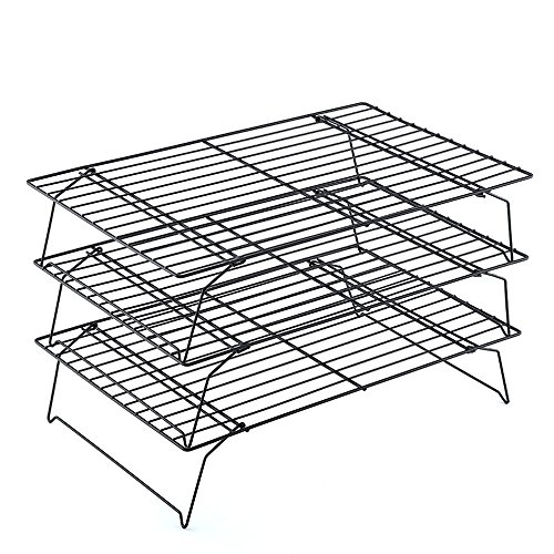 3-Tier Cooling Rack Baking Rack Non-Stick Multi-Tier Grid Wire Cooling Rack for Baking, Cake, Cookie, Bread,