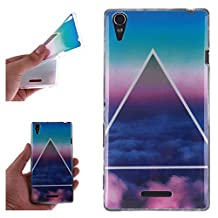 Sony T3 Case, Showing Totem Series Flexible Soft TPU Cover Protective Case For 5.3 inches Sony Xperia T3 (Triangle Clouds)