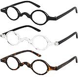 Reading Glasses Set of 3 Spring Hinge Professor Readers for Men and Women