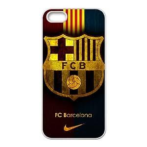 iPhone 5 5s Cell Phone Case White Barcelona Football rvj kycr