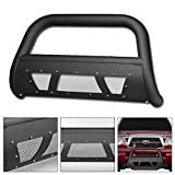 2007 toyota tacoma grill guard - VXMOTOR 2005-2015 Toyota Tacoma Matte Black Studded Mesh Bull Bar Brush Push Front Bumper Grill Grille Guard With Skid Plate
