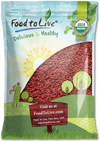 Food to Live Organic Goji Berries, Sun Dried, Large and Juicy (12 Pounds)