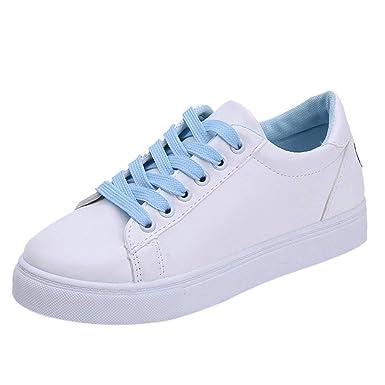 moda firmata b08a5 5df28 BaZhaHei Sneakers Donna Fondo Piatto Lace-Up,Eleganti Scarpe ...
