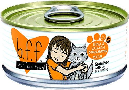Best Feline Friend (B.F.F.) Grain-Free Cat Food by Weruva, Tuna & Salmon Soulmates, 5.5-Ounce Can (Pack of 24) by Weruva