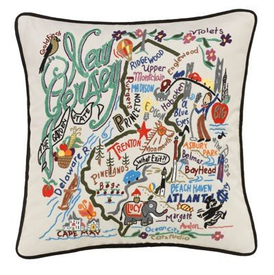New Jersey State Pillow by Catstudio by Catstudio