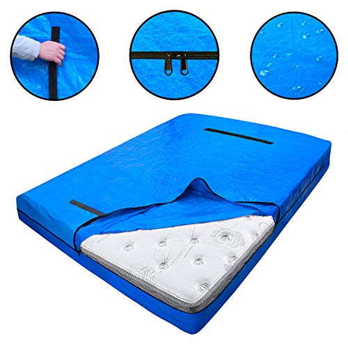 Dofilachy Heavy Duty Mattress Bags for Moving and Storage - Reusable Mattress Protection Cover Bag - King, Queen, Full, Twin Size Mattress Protector with Strong Zipper and Handles (Queen)