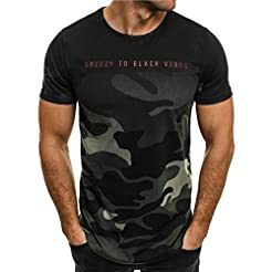 YANG-YI 2019 Fashion Men Personality Cam...