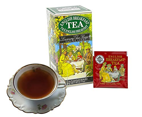 - Mlesna English Breakfast Pure Ceylon High Grown Black Tea - 30 Individual Foil Wrapped Envelope Ozone Friendly Tea Bags, Hot Tea or Iced Tea