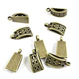 610 PCS Beading Jewelry Making Charms Finding Jewellery Charme Antique Bronze Plated Craft Crafting J7RG5 Bead Bail Cord Ends