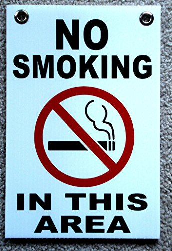 1 Pc Heart-stopping Unique No Smoking in This Area Sign Yard Board Outdoor Decal Coroplast Window Businesses Free Permitted Decals Business Please Stop Smell Tips Size 8