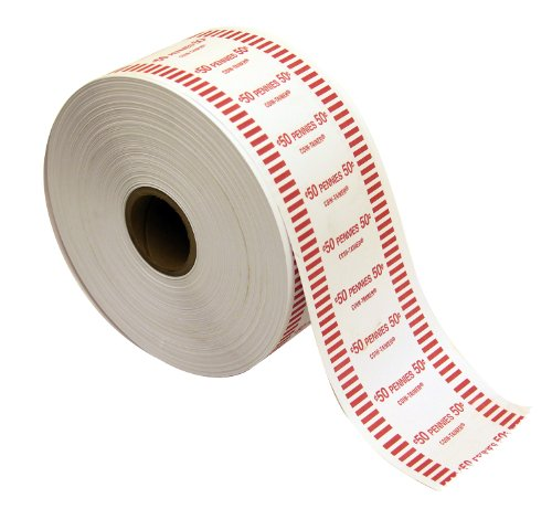 The Coin-Tainer Co. Automatic Coin Wrapper Roll, Penny, 1000 feet (50001)