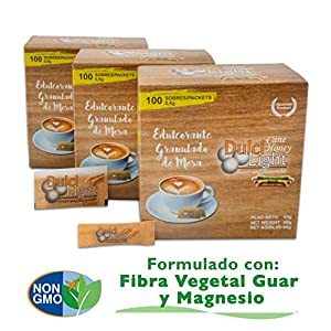 DULCILIGHT CANNA DA ZUCCHERO NATURALE 300 Bustines, DOLCIFICANTE GRANULATO al gusto naturale dello zucchero di canna… 2 spesavip