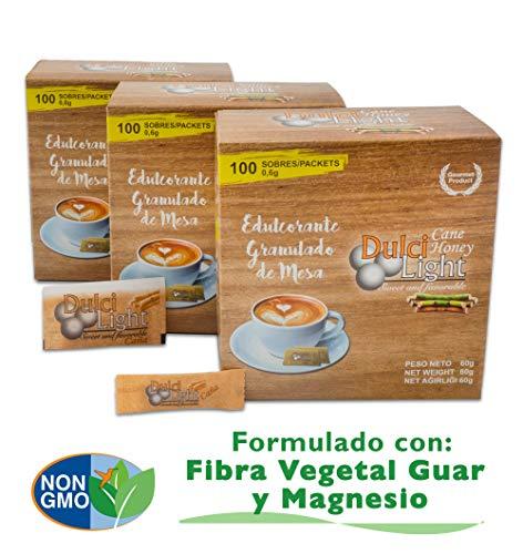 DULCILIGHT CANNA DA ZUCCHERO NATURALE 300 Bustines, DOLCIFICANTE GRANULATO al gusto naturale dello zucchero di canna… 1 spesavip