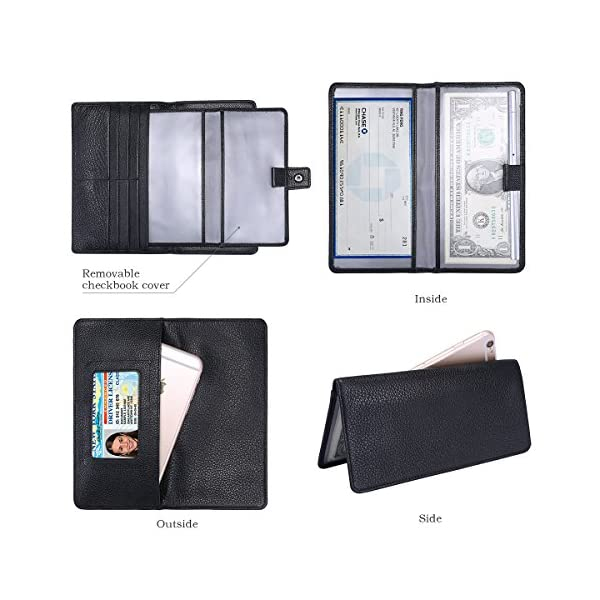 Itslife Womens Wallet,Large Capacity RFID Blocking Leather Wallets Credit Cards Organizer Ladies Wallet with Checkbook Holder