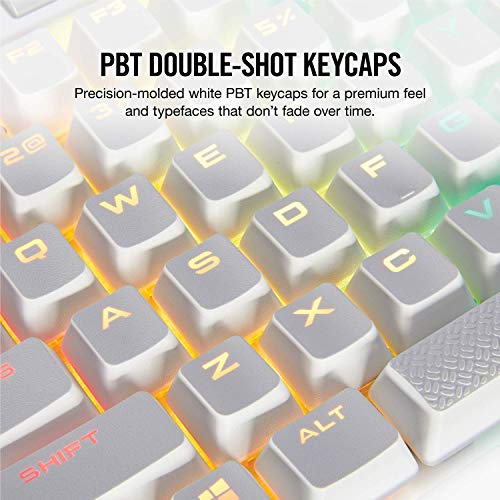 Corsair K70 RGB MK.2 SE Mechanical RAPIDFIRE Gaming Keyboard - USB Passthrough & Media Controls - PBT Double-Shot Keycaps - Cherry MX Speed - RGB LED Backlit,CH-9109114-NA