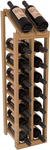 Wine Racks America Pine 2 Column 8 Row Display Top Kit. Oak Stain Satin Finish